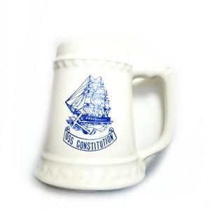 Vintage   McCoy USS Constitution Mug